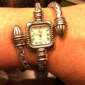 Other - WRAPPED SILVER BRACELET WATCH